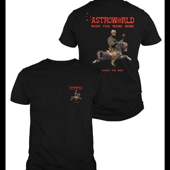 263ac4d3ae7b Travis Scott Tops | Astroworld Wish You Were Here T Shirt | Poshmark